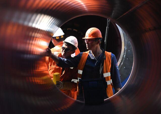 Construcción del gasoducto Nord Stream 2
