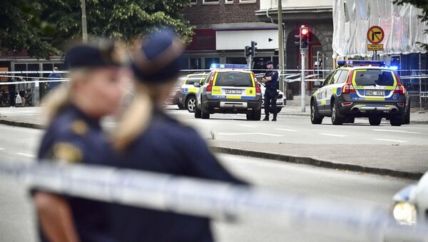 Policía sueca (archivo) - Sputnik Mundo