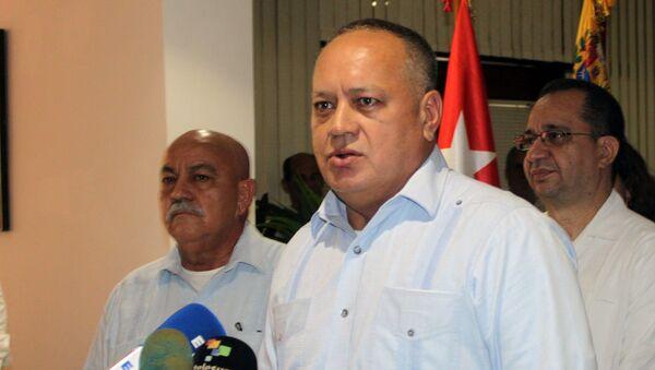 Diosdado Cabello, presidente de la Asamblea Nacional Constituyente de Venezuela, en conferencia de prensa en La Habana - Sputnik Mundo