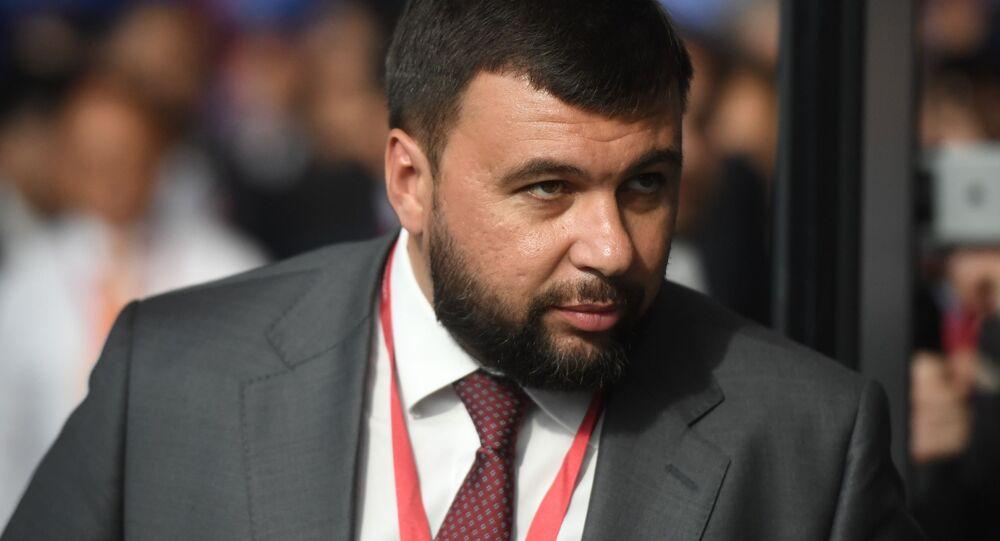 Denís Pushilin, líder de la república de Donetsk