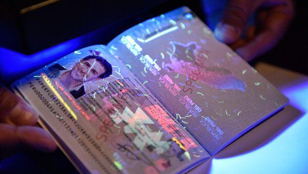Pasaporte peruano (imagen referencial) - Sputnik Mundo