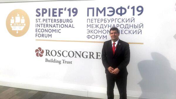 Hugo Velázquez, vicepresidente de Paraguay, durante el SPIEF 2019 - Sputnik Mundo