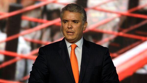 Iván Duque, el presidente de Colombia - Sputnik Mundo