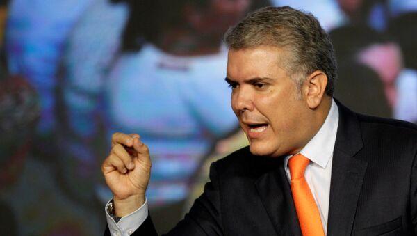 El presidente de Colombia, Iván Duque - Sputnik Mundo