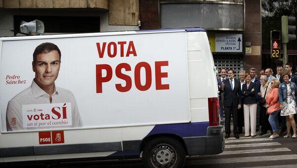 Campaña electotal del PSOE (archivo) - Sputnik Mundo