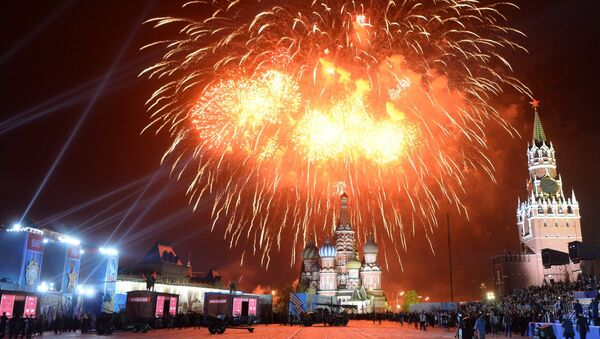 Fuegos artificiales en Moscú (archivo) - Sputnik Mundo