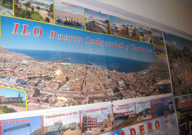 El mapa del puerto peruano de Ilo (imagen referencial)