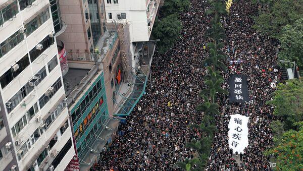 Protestas en Hong Kong - Sputnik Mundo