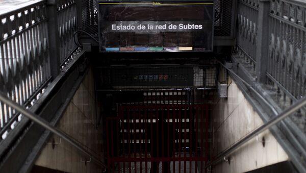 El metro de Buenos Aires, a oscuras tras el apagón del 16 de junio - Sputnik Mundo