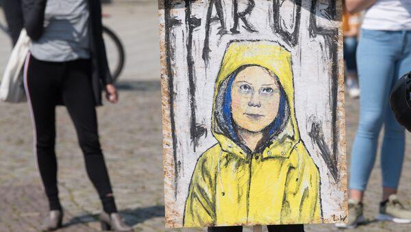 Retrato de Greta Thunberg, activista sueca - Sputnik Mundo