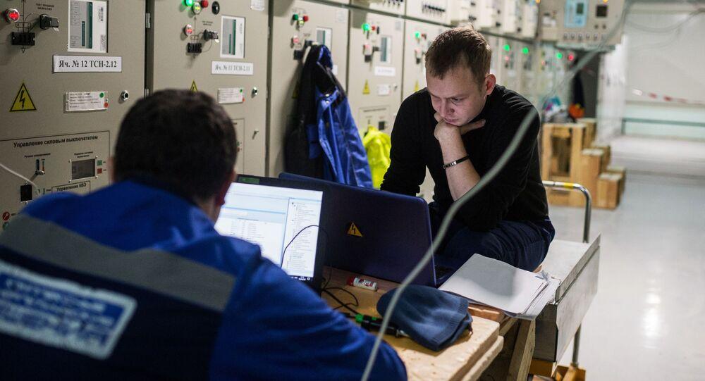 Ingenieros de la Central Termoeléctrica de Simferópol (Rusia)