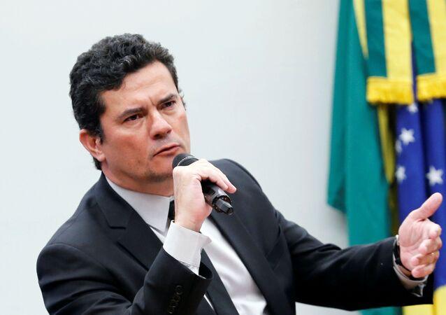Sérgio Moro, ministro de Justicia de Brasil (archivo)