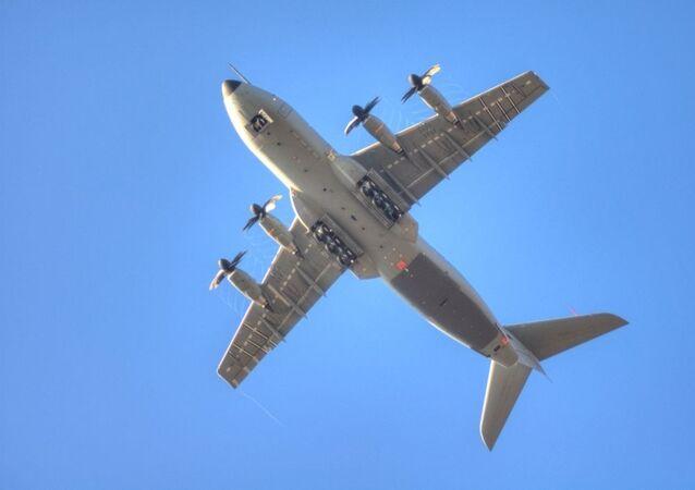 Un avión de transporte militar Airbus A400M (archivo)