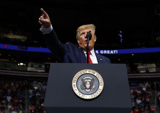 Donald Trump, presidente de EEUU, lanza su campaña para la reelección en 2020 en Orlando (Florida), el 18 de junio de 2019