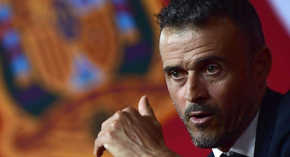 Luis Enrique, entrenador de la Real Federación Española de Fútbol
