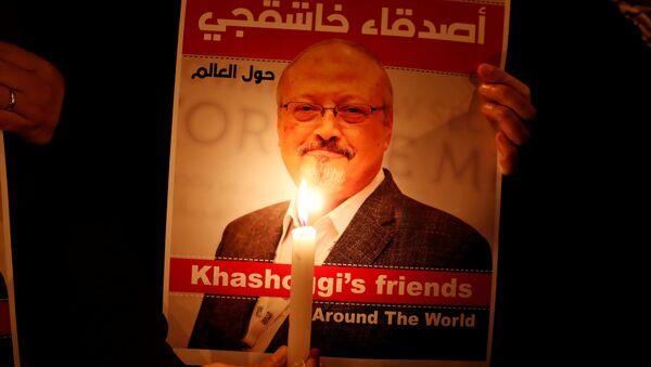 Un retrato del periodista saudí Jamal Khashoggi - Sputnik Mundo