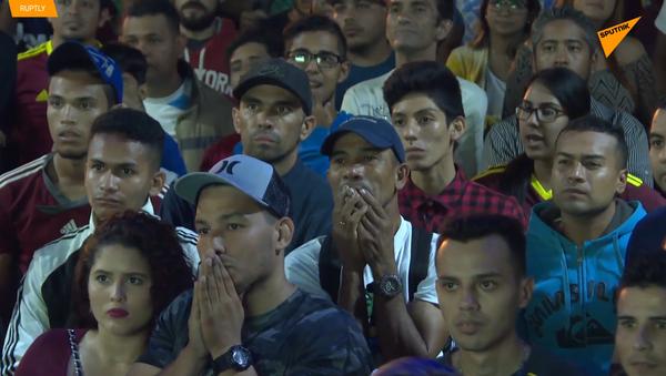 La euforia de la hinchada venezolana durante el partido contra Brasil en la Copa América - Sputnik Mundo