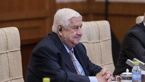Walid Mualem, ministro de Exteriores sirio - Sputnik Mundo