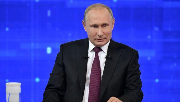 Un millón de preguntas para el presidente: la Línea directa con Putin, en imágenes - Sputnik Mundo
