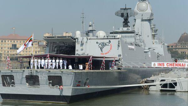 INS Chennai, buque militar indio - Sputnik Mundo