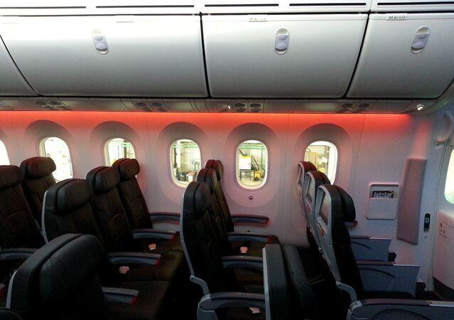 El interior de un Boeing 787