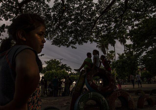 Migrantes centroamericanos en México (imagen referencial)