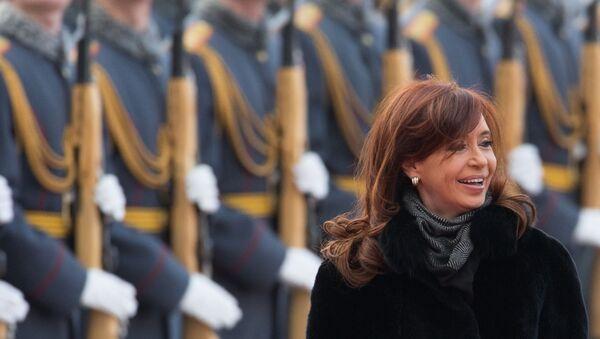 Cristina Fernández de Kirchner, expresidenta argentina, en una visita a Moscú - Sputnik Mundo