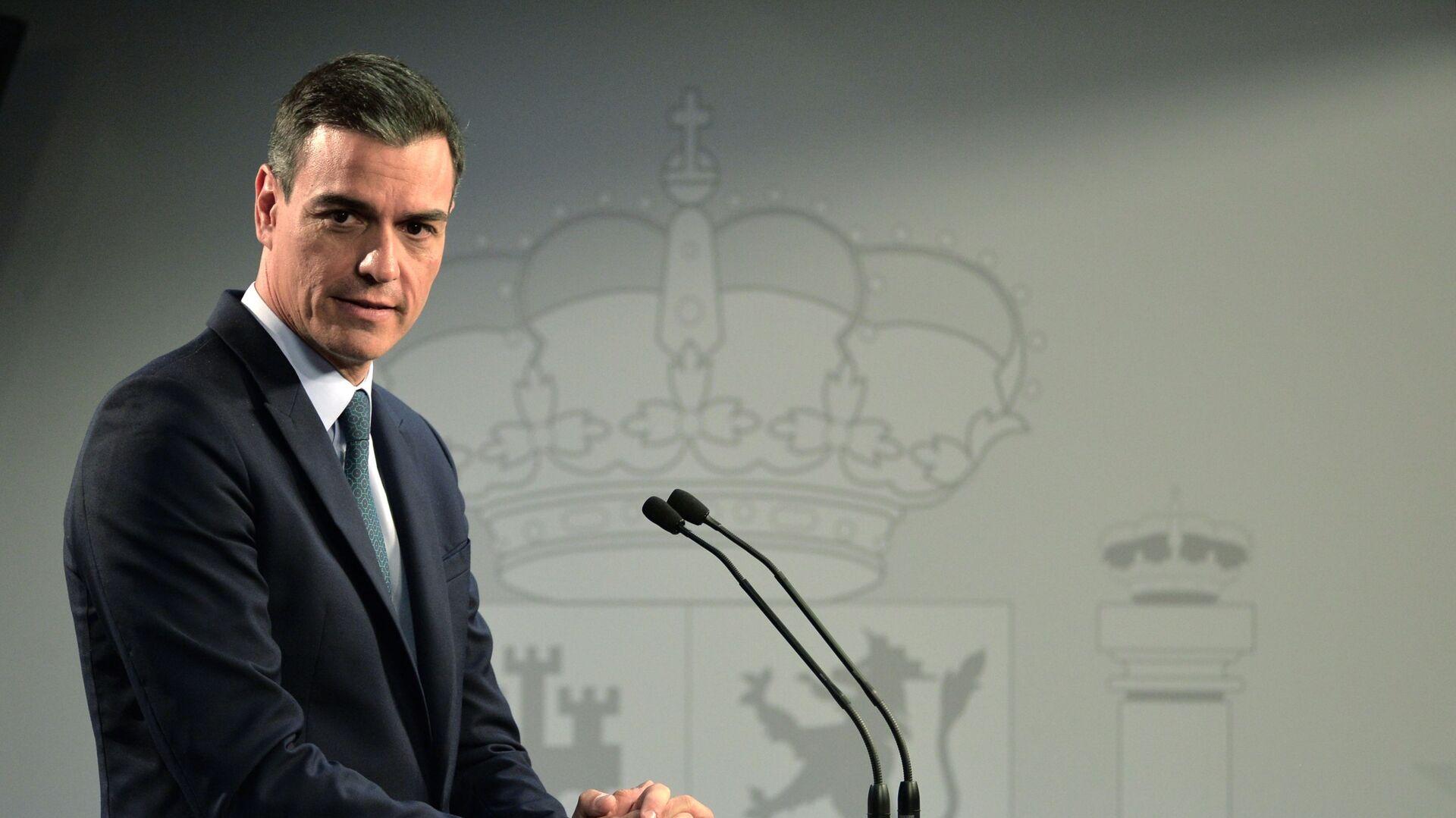 Pedro Sánchez, presidente del Gobierno español - Sputnik Mundo, 1920, 12.04.2021