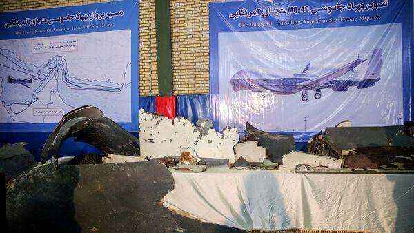 Los restos del dron estadounidense derribado por Irán - Sputnik Mundo