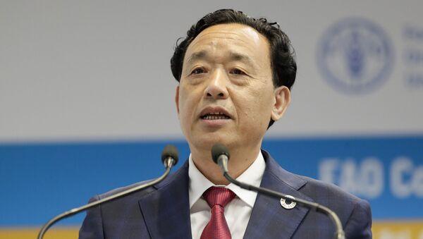 Qu Dongyu, viceministro de Agricultura y Asuntos Rurales de China - Sputnik Mundo