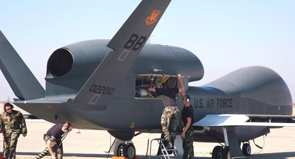 Dron estadounidense Global Hawk (archivo)