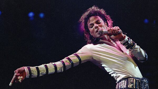 Michael Jackson during the opening performance of his 13-city U.S. tour, in Kansas City - Sputnik Mundo