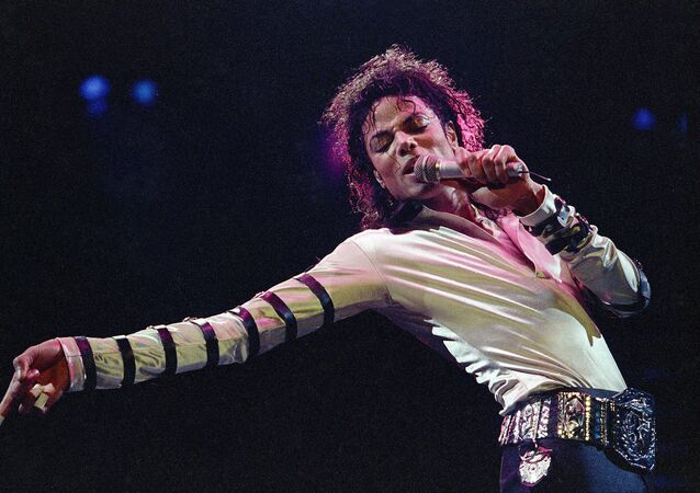 Michael Jackson during the opening performance of his 13-city U.S. tour, in Kansas City