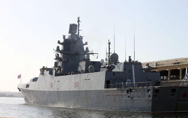 La fragata rusa Almirante Gorshkov arriba a Cuba - Sputnik Mundo