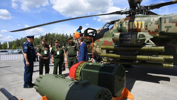 Helicópteros rusos en el foro Army 2019 - Sputnik Mundo