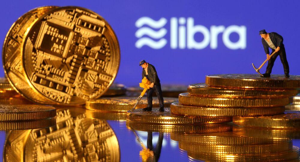 Logo de libra, criptomoneda de Facebook