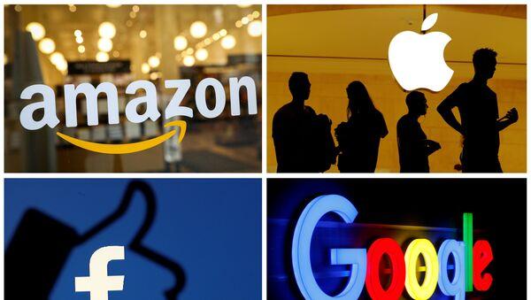 Los logotipos de Amazon, Apple, Facebook y Google - Sputnik Mundo