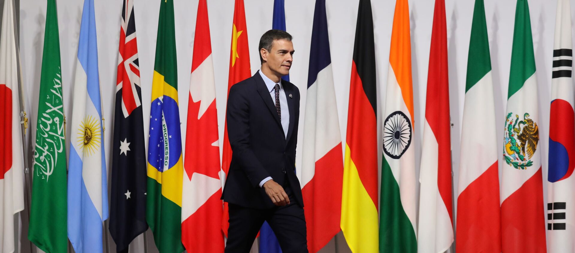 Pedro Sánchez, presidente del Gobierno español en la cumbre del G20 en Osaka, Japón - Sputnik Mundo, 1920, 28.06.2019