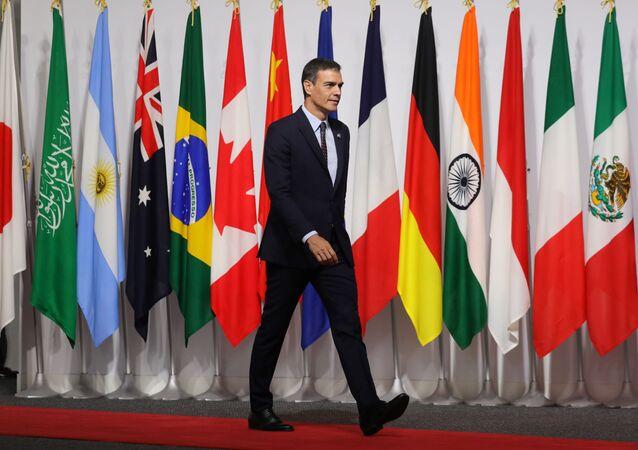 Pedro Sánchez, presidente del Gobierno español en la cumbre del G20 en Osaka, Japón