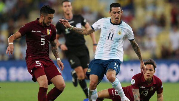 El partido entre Venezuela y Argentina - Sputnik Mundo