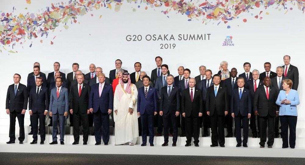 Los jefes de Estado durante la participación del G20 en Osaka, Japón