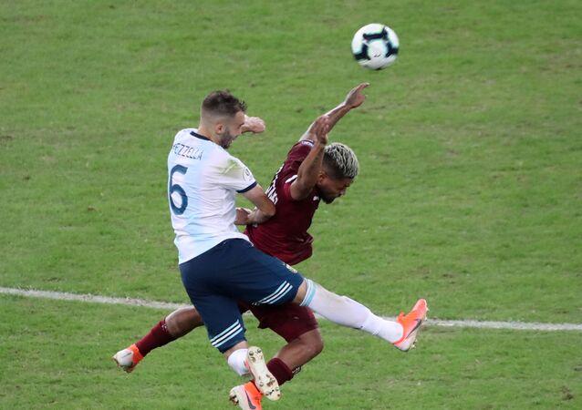 El partido entre Argentina y Venezuela en los cuartos de finales de la Copa América de Brasil