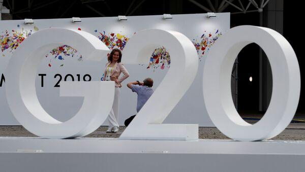 Logo de la Cumbre del G20 en Osaka, Japón - Sputnik Mundo