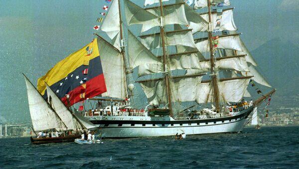 Un barco con la bandera de Venezuela (archivo) - Sputnik Mundo