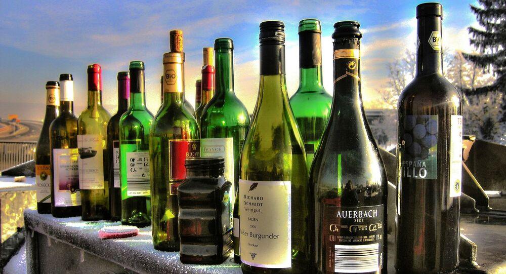 Las botellas de alcohol