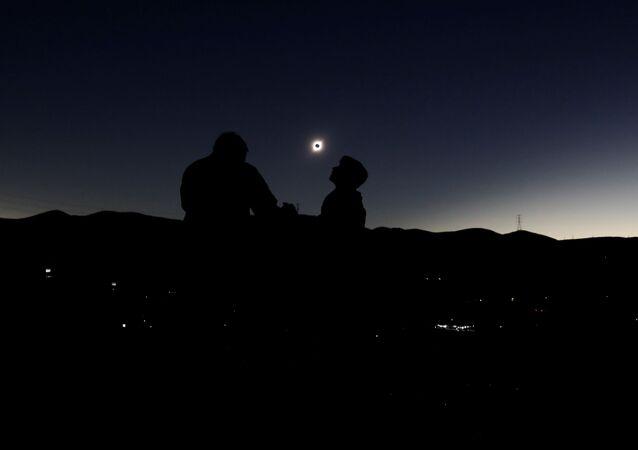Eclipse solar visto desde Incahuasi, Chile