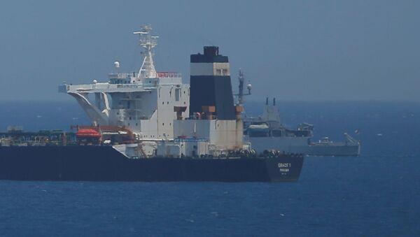 El buque petrolero detenido en Gibraltar - Sputnik Mundo