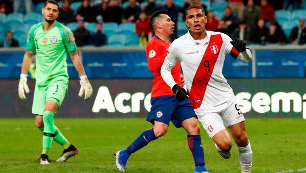 El partido entre Perú y Chile - Sputnik Mundo