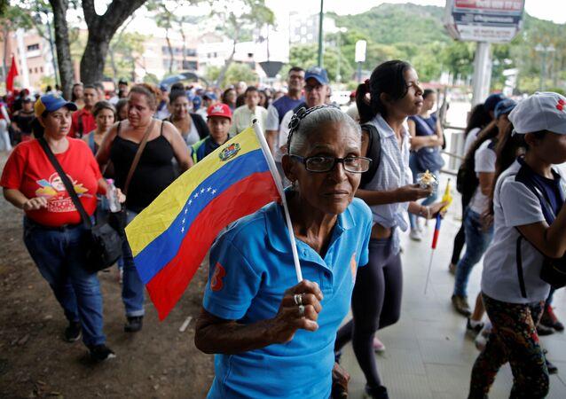 Movilización a favor del presidente venezolano, Nicolás Maduro