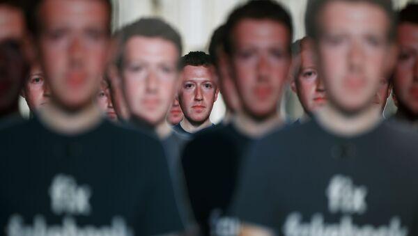 Figuras de cartón de Mark Zuckerberg - Sputnik Mundo